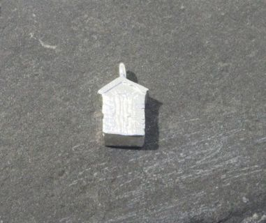Stirling Silver Beach hut Charm